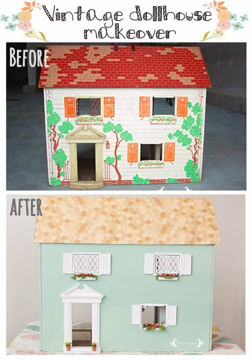 Vintage-Dollhouse-Makever-Before-and-After-Five-Marigolds