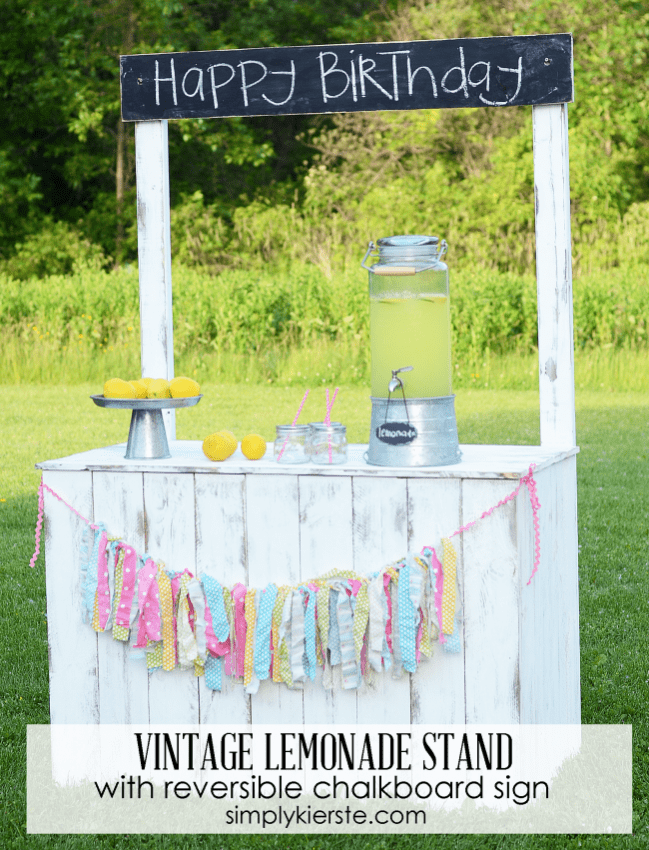 Lemonade Stand with Chalkboard Sign