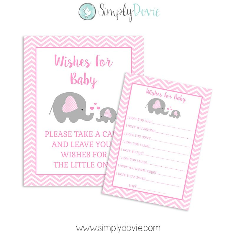 elephant baby shower wishes
