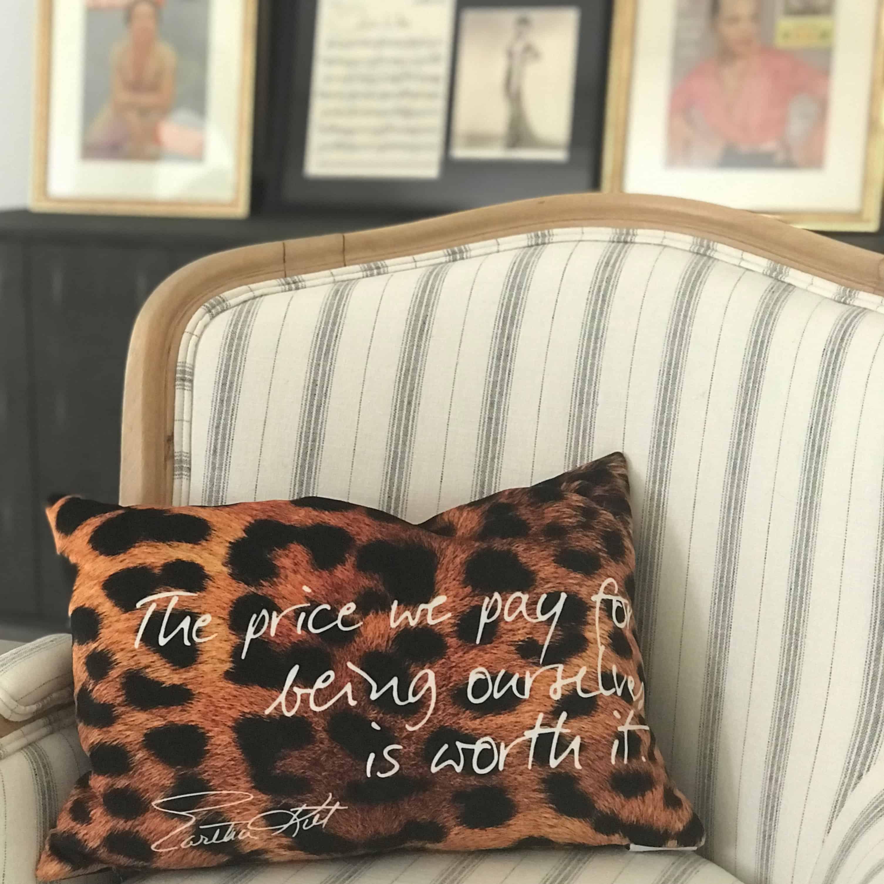 animal print pillow with