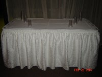 Simply Elegant Weddings-Table Skirting, linen rentals ...