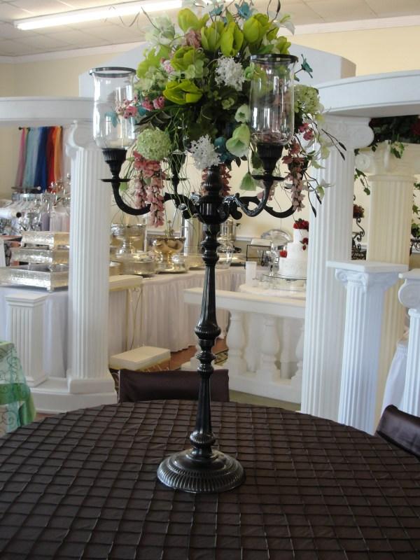 Simply Elegant Weddings- Wrought Iron Candelabra Rentals