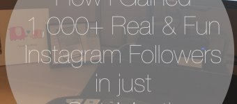 How I Gained 1K Real & Fun IG Followers