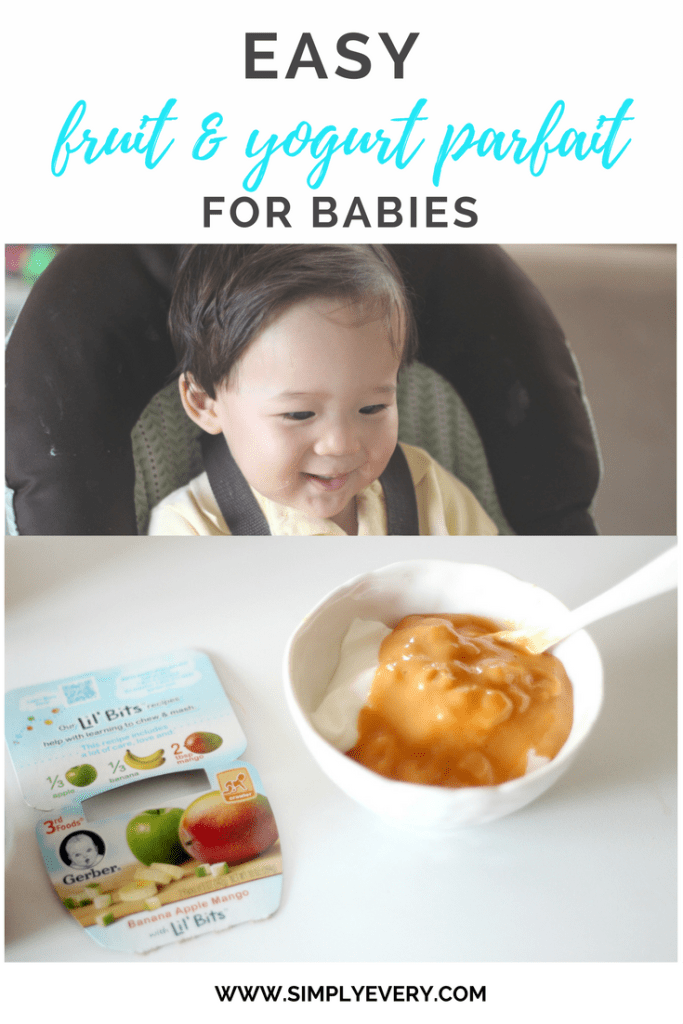 Easy Fruit & Yogurt Parfait for Babies