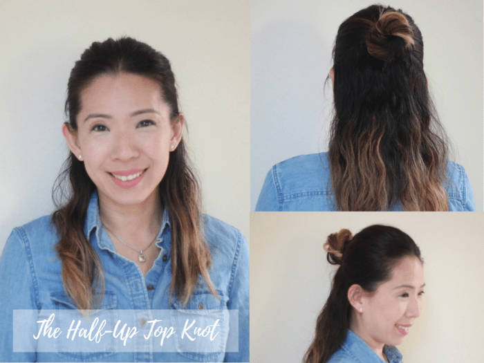 the-half-up-topknot hairstyles