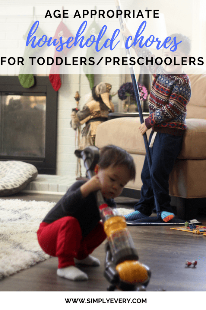 Age Appropriate Chores for Toddlers & Preschoolers
