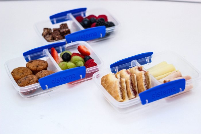 sistema containers for No Heat School Lunches