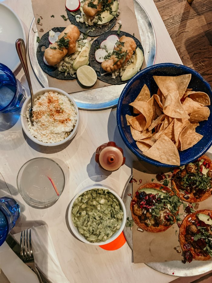 We ate a late lunch at Mission Taqueria and the food was unbelievably good.