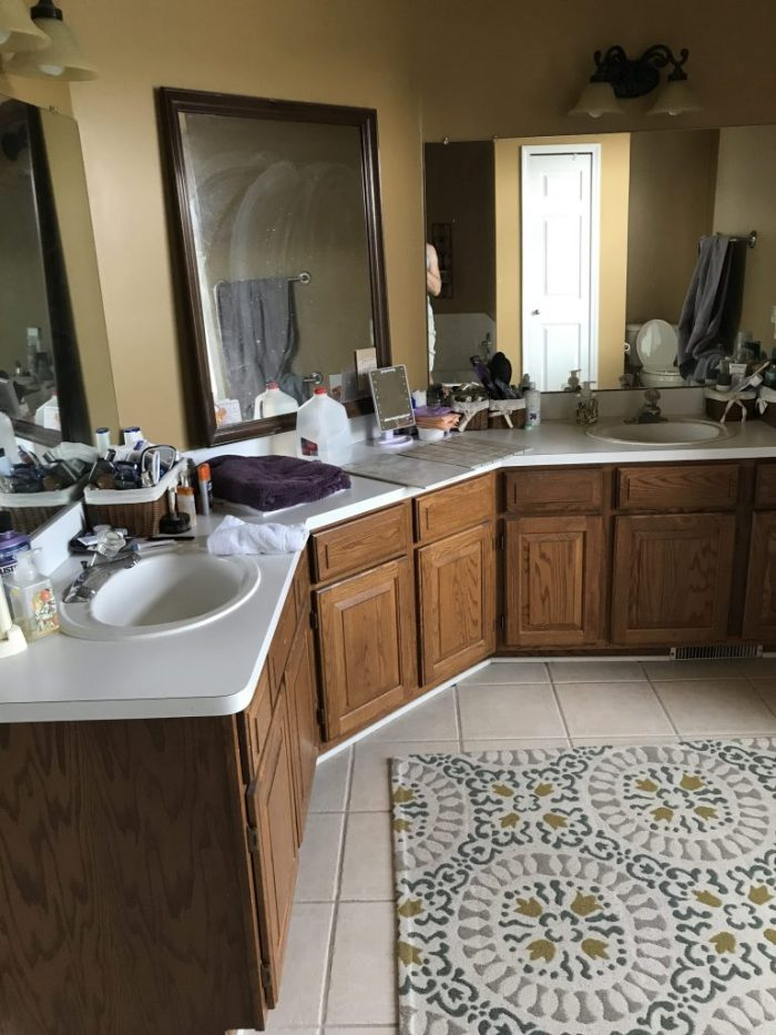 Before Our Master Bathroom Renovation by Simply Every
