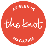 """Vendor Badge """"As seen in The Knot magazine"""""""