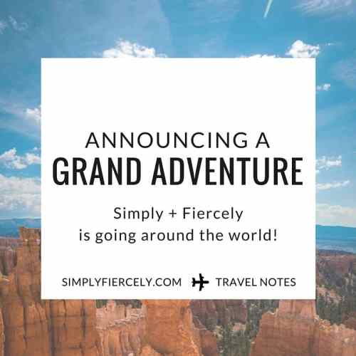 Simply + Fiercely is going around the world (and other big news!)