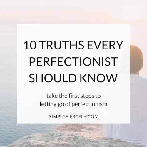 Letting go of perfectionism means cutting away the noise until you're left with the essential. When you turn down the hustle, you'll find that who you are is all heart. Embracing imperfection is simplifying. It creates a life that's in line with your values.