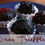 Easy Recipe: Oreo Truffles