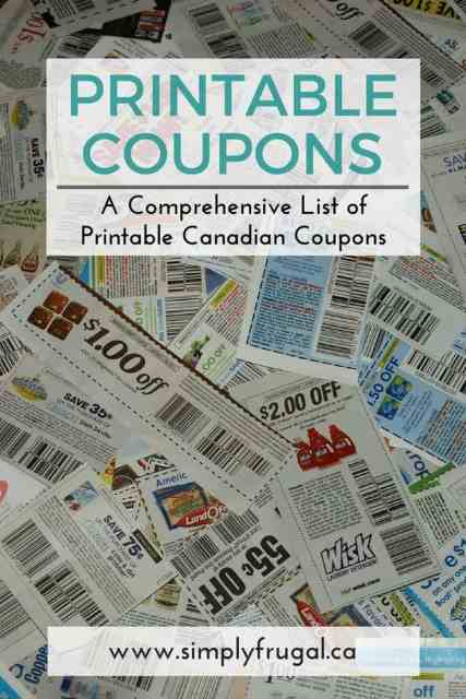 Printable Canadian Coupons