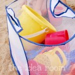 Organization Tip – Mesh Bag for Sand Toys