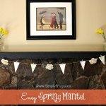 DIY: Easy Spring Mantel