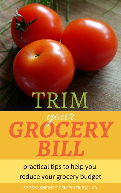 With food prices constantly increasing, it's time to take control of your grocery bill! If you've been feeling overwhelmed with how much money and time you're spending to feed your family, the simple and practical tips found in my ebook, Trim Your Grocery Bill will bring some relief.