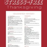 Checklist for a Stress-Free Thanksgiving
