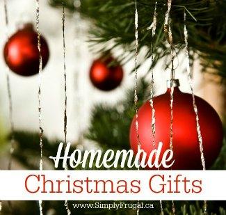 Homemade Christmas Gifts sidebar