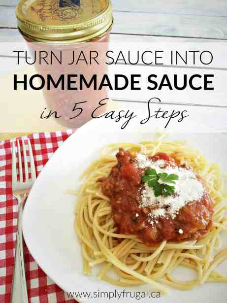 Expecting company for dinner? Impress your guests and be a kitchen superstar by turning bought jar sauce into homemade sauce in 5 easy steps!