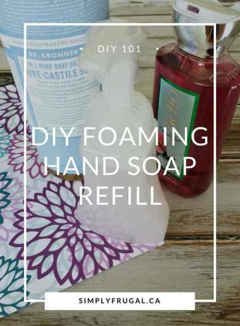 DIY Foaming Hand Soap Refill