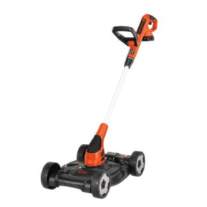 BLACK+DECKER MTC220 20V Lithium Ion 3-in-1 Trimmer/Edger and Mower, 12