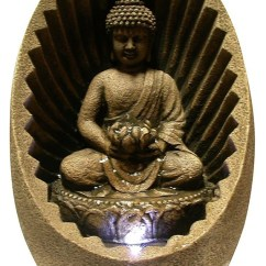 Kitchen Garbage Bags Restaining Cabinets Win322 Tabletop Buddha Fountain With Led Light