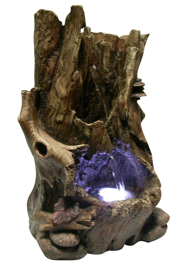 Hollow Log Table Fountain  WIN326