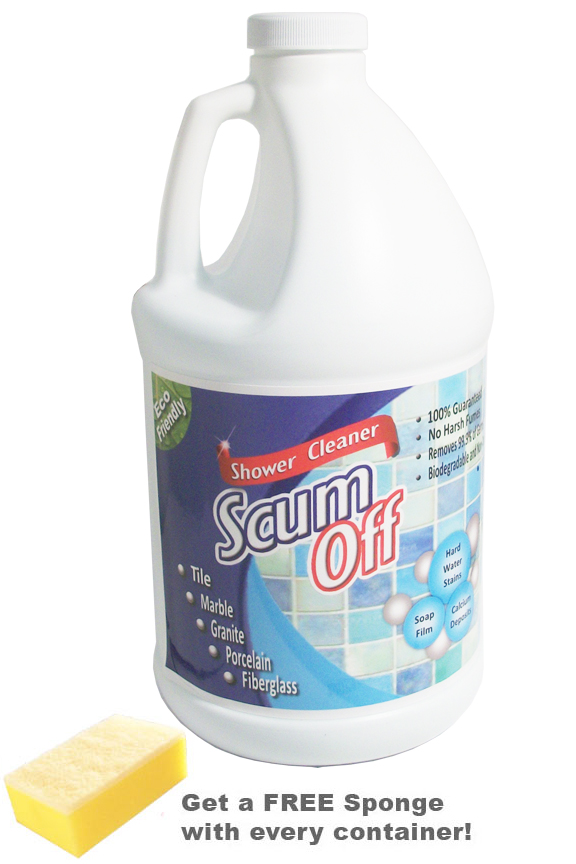 best drain cleaner for kitchen sink chef appliances 64 oz. scum off - an all natural tub and tile
