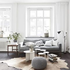 White Leather Chesterfield Corner Sofa Storage Beds Uk How To Get The Scandinavian Aesthetic In Your Living Room ...