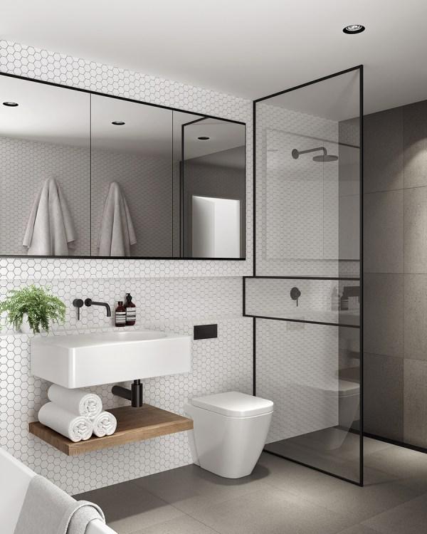 Minimalist Modern Aesthetic In Bathroom - Simply Grove