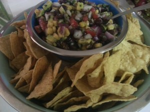 Simple ingredients produce a delicious corn and black bean salsa