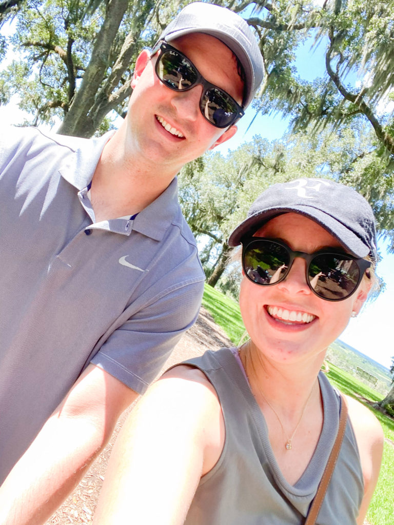 wife and husband at Bok Tower