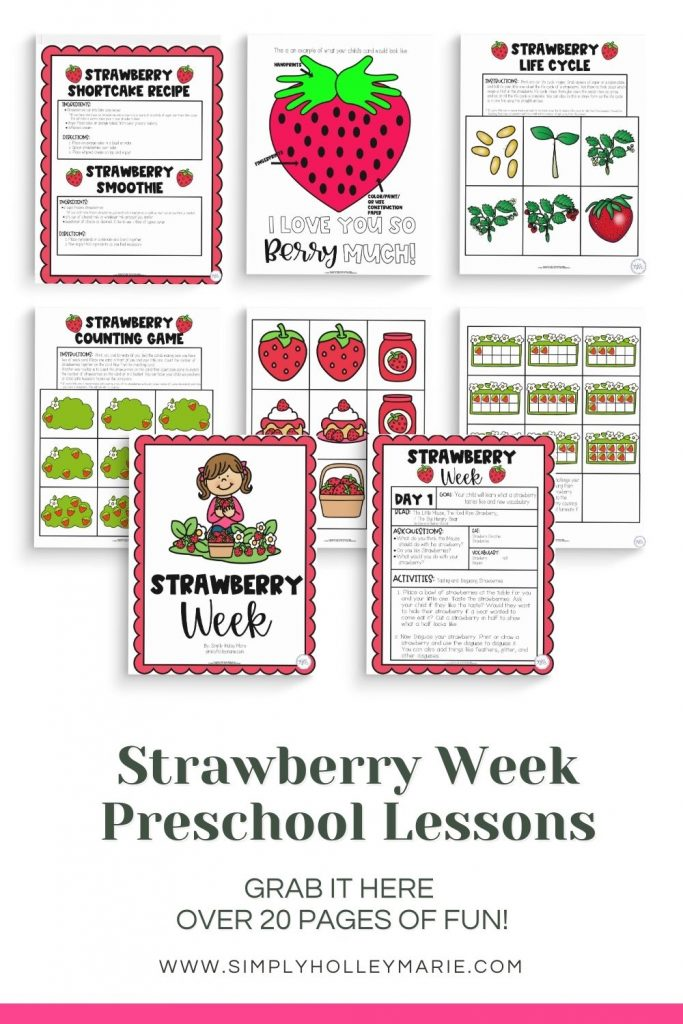Strawberry Week Preschool Lesson Plans images of plans  grab it here