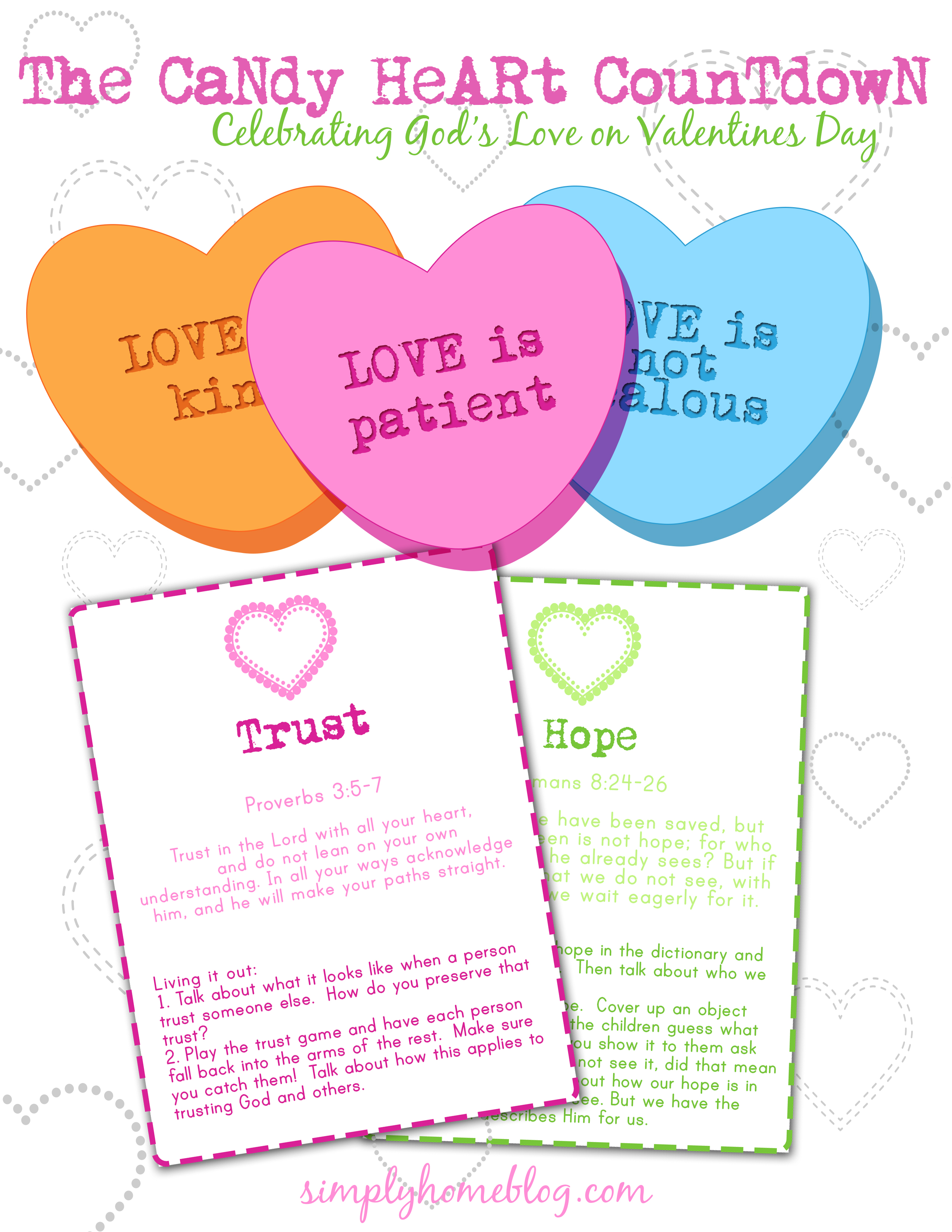 Conversation Heart Countdown To Valentines Day 16 Days Of