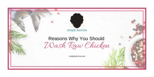 washing chicken