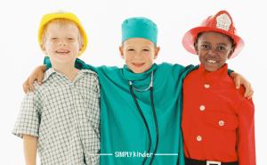 Kids dressed up as community helpers
