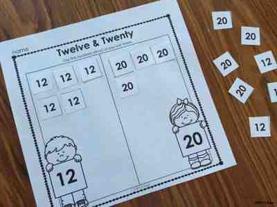 12 and 20 Confusion - Use these fun activities to help kids remember the numbers 12 and 20. Simply Kinder