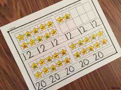 12 and 20 Confusion - Use these fun activities to help kids remember the numbers 12 and 20.