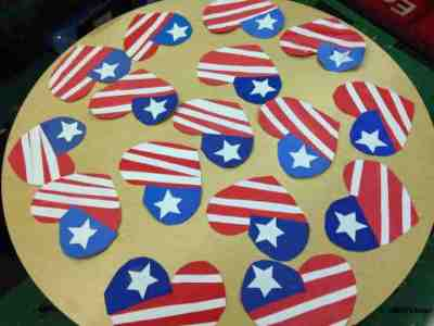 American flag hearts - an easy craft for any patriotic holiday!