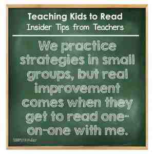 Teaching Kids to Read - Insider Tips from Teachers - Real reading improvement happens when the kids read one-on-one with you.