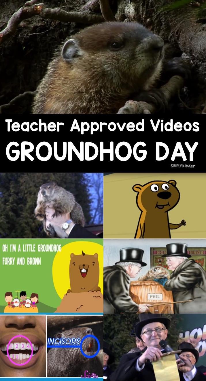 Groundhog Day Videos for Kids - Teacher approved list of videos for preschool, kindergarten, and first grade.
