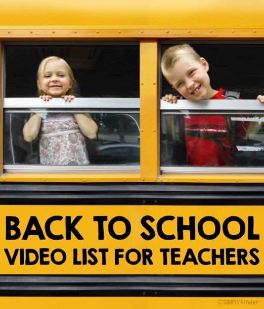 Back to School Video List for Teachers. Everything from rules to making friends to the first day jitters.