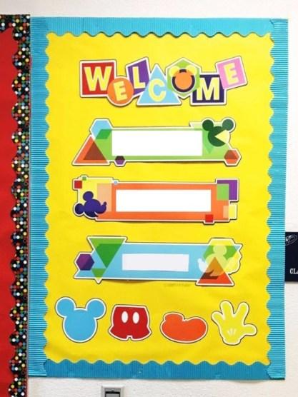 Geo Mickey Bulletin Board Set