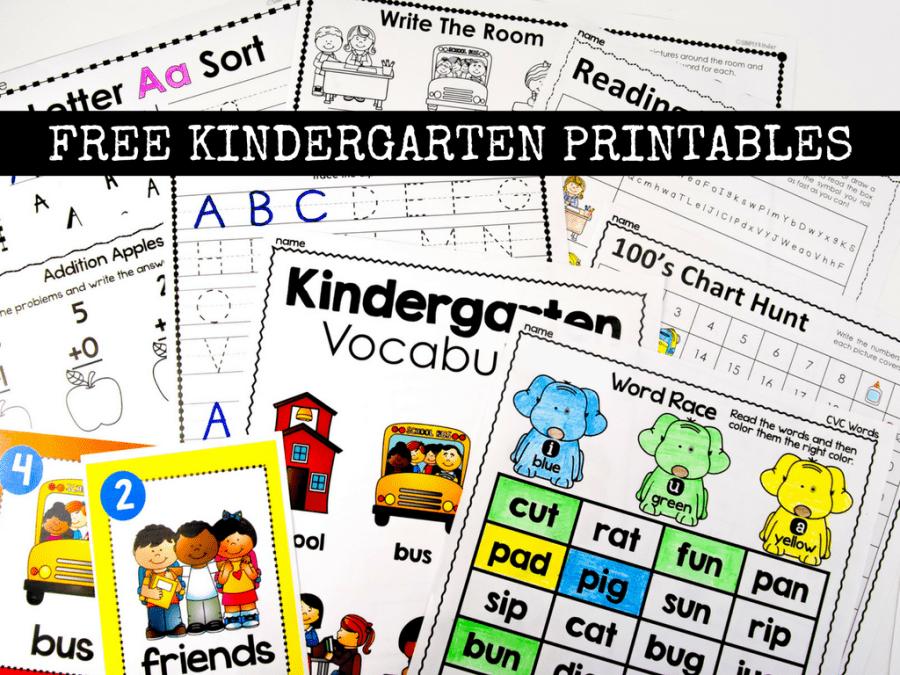 Kindergarten printables, centers, activities, games, and much more for your kindergarten class.