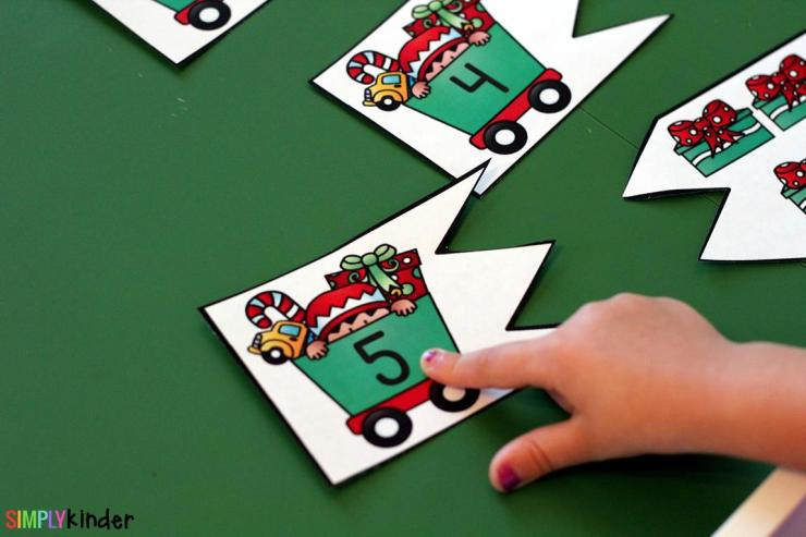 Christmas Number Puzzles is the perfect addition to your math centers this holiday season. It is perfect for preschool and kindergarten students.