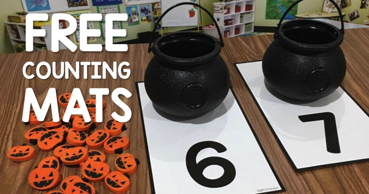 Free Halloween Counting Activity using those cute little buckets and counters.