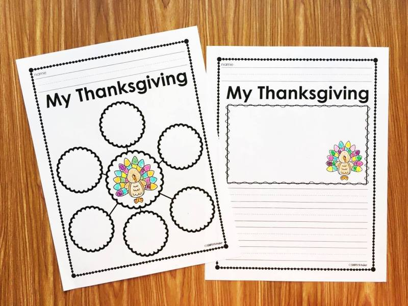 A free writing activity to complete after Thanksgiving.  This is perfect for your students to tell you about what they did over their break through writing.  Download this Thanksgiving Reflection Activity free from Simply Kinder.