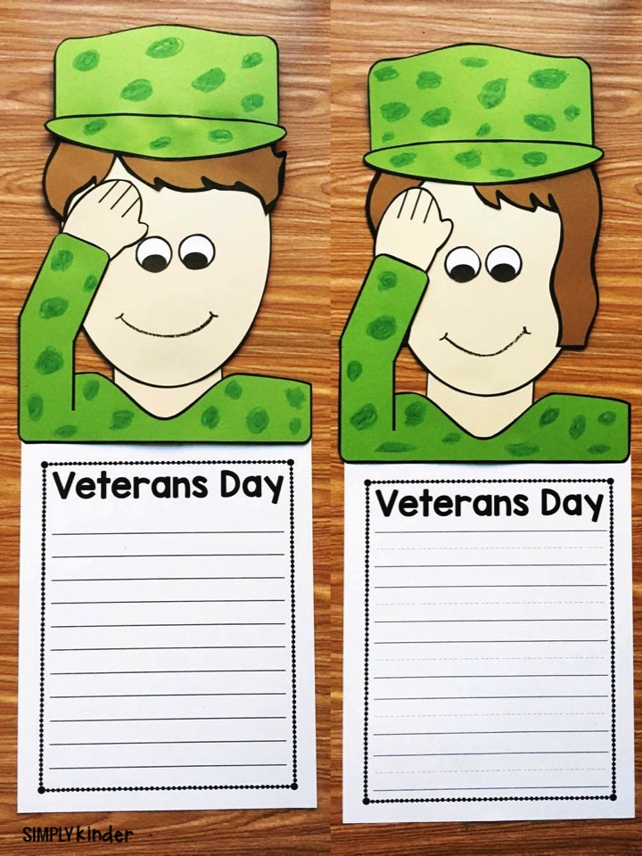Veterans Day Craft and Story Topper. Perfect for preschool, kindergarten, and first grade from Simply Kinder.