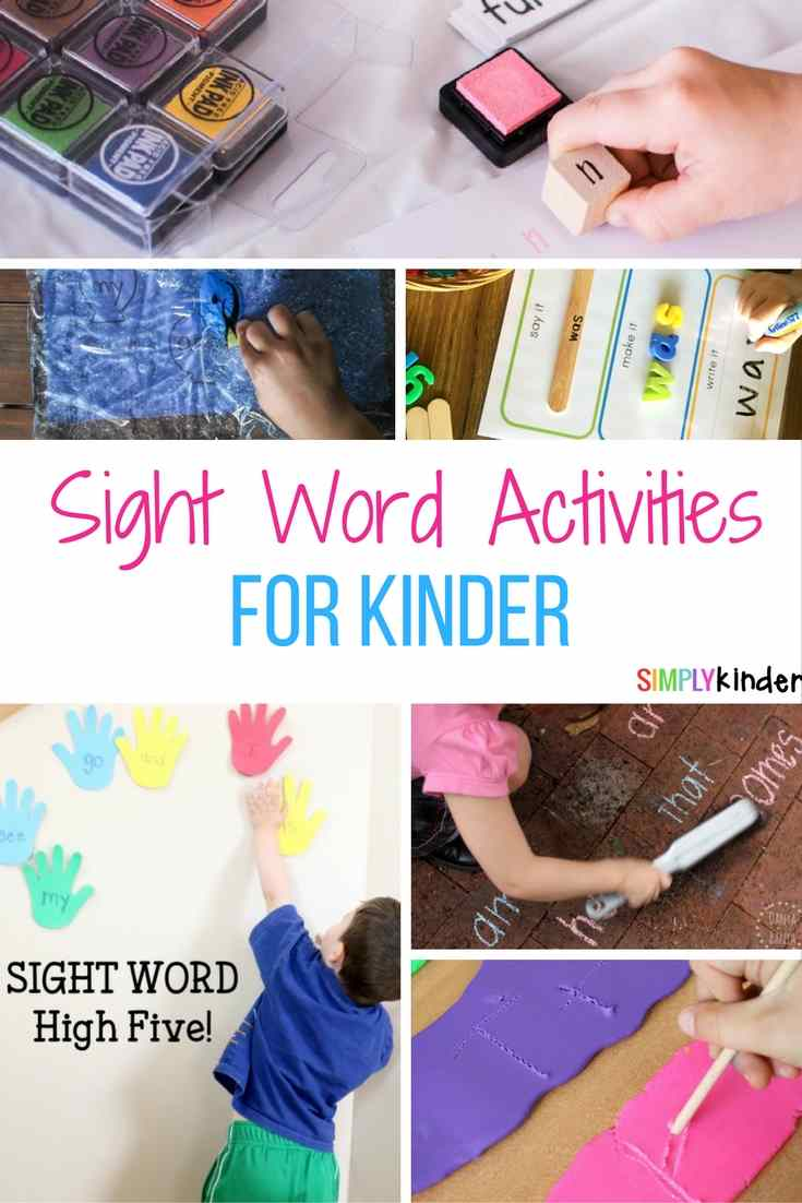 sight word activities for kinder